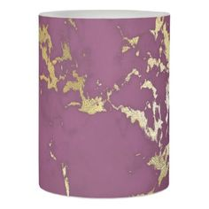 Modern Chic Purple and Gold Marble Flameless Candle - minimal gifts style template diy unique personalize design