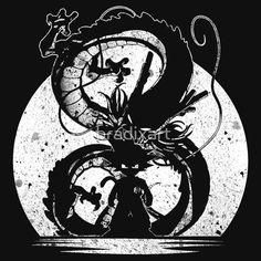 Silhouette of Dragon Ball T-Shirts & Hoodies #dbz #dragonballz #songuko #saiyan #guko #silhouette #anime #clothing #grunge