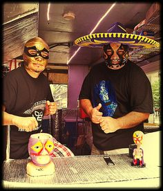 The Luchadores of The Tamale Spaceship by FAR Photos, via Flickr