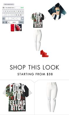 """I care but I don't"" by beautifullymade1 ❤ liked on Polyvore featuring (+) PEOPLE, H&M and NIKE"