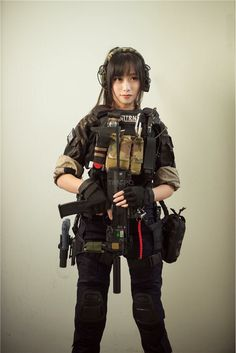 Cute Asian Girls With Guns - Japanese Cosplay Armed Schoolgirls