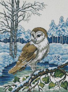 Buy Barn Owl Cross Stitch Kit Online at www.sewandso.co.uk