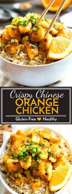Gluten Free Chinese Orange Chicken recipe that tastes as good as takeout! The chicken is extra crispy and is tossed in a super yummy orange juice and soy sauce glaze.