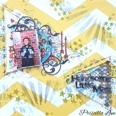 A project for 2Crafty Chipboard.  Lots of Tim Holtz stencils and distress ink used on this layout. Do check out blog link for more details. http://growingwithgabriel.blogspot.sg/2016/06/june-projects-for-2crafty-chipboards.html Thank you in advance. #2craftychipboard #layout #scrapbook #timholtzstencils #timholtzdistressink