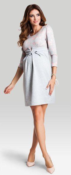 Happy mum - Marshmallow хлопковое платье из 3d джерси для беременных