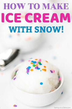 Snow Ice Cream Recipe - how to make ice cream out of snow It is so easy to make this delicious and tasty Snow Ice Cream Recipe. Kids go crazy over this simple treat and it is a blast to make. Easy Snow Ice Cream Recipe, Snow Icecream Recipe, Snow Recipe, Make Ice Cream, Homemade Ice Cream, Ice Cream Recipes, Homemade Vanilla, Snowcream Recipe, Snickers Ice Cream