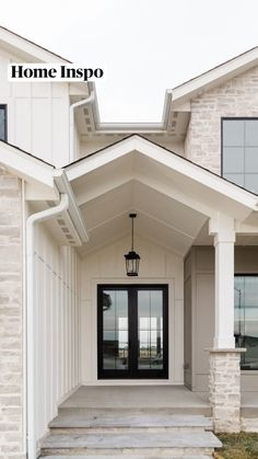 Dream Home Design, My Dream Home, House Design, Modern Farmhouse Exterior, Modern Farmhouse Style, Modern Country, Dream House Exterior, Stone Exterior Houses, House Paint Exterior