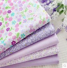 Newest Purple Print Cotton Fabric Quarter Bundle Telas DIY Patchwork Quilt Doll Sewing Baby Textile Bedding Tecido Cotton Quilts, Cotton Fabric, Sewing Crafts, Sewing Projects, Diy Projects, Purple Bedding, Patchwork Fabric, Fabric Flowers, Fabric Patterns
