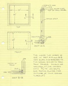 solar heat storage tank construction