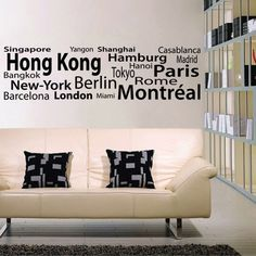 Cities of the World - Wall Decals Stickers