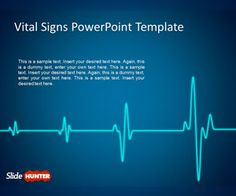 Free animated PowerPoint template with awesome cardiogram effect for presentations #animated #medical #powerpoint #templates