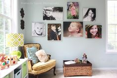 Love the canvas photos on the wall...would love something similar in our master bedroom someday