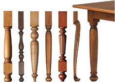 Unfinished Wood Table Legs 29 inches high. Great selection of table leg styles in a variety of widths and wood species. Most legs available smooth or fluted. Perfect for tables, desks & occasional tables requiring seating.