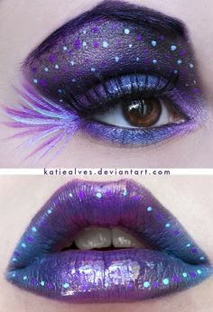 If you had a blue/purple prom dress, then this would probably be a good makeup idea.  I got no clue xD, I would personally have to see it first in order to know.