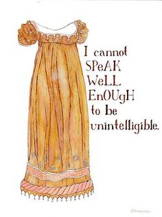 Jane Austen original watercolor painting by Yardia - Northanger Abbey, Regency fashion illustration Jane Austen Quotes, Pride And Prejudice, Fashion Pictures, Amanda, Summer Dresses, The Originals, Trending Outfits, Lady, Literature