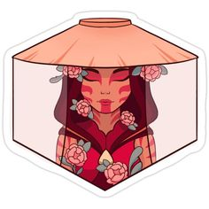 Decorate laptops, Hydro Flasks, cars and more with removable kiss-cut, vinyl decal stickers. Glossy, matte, and transparent options in various sizes. Super durable and water-resistant. A floral design of katara as the painted lady from avatar: the last airbender.Feel free to message me if there is a product you want, or you would like to see something formatted differently! :)