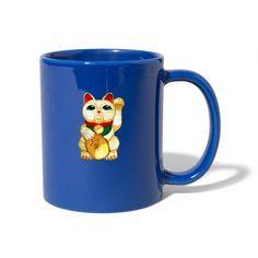 Geschenke Shop   Manekineko Glücks Katze Winke Katze - Tasse einfarbig Shirt Diy, T Shirts, Fancy, Tableware, Shopping, Lifestyle, Color, Gatos, Cat Mug