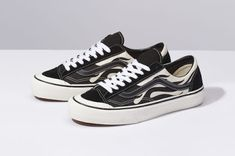 462b587373 vans style 36 flame black low top sf waffle skate shoe white canvas rubber  drop release date info buy sell
