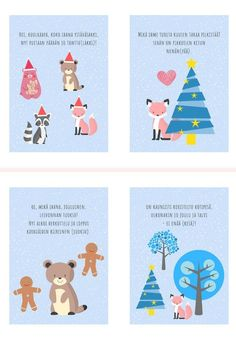 Learn Finnish, Finnish Language, Preschool Christmas, Pre School, Art For Kids, Kindergarten, Xmas, Teaching, Education
