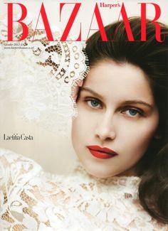Harper's Bazaar UK, October 2012 #cover | Laetitia Casta by Sebastian Faena