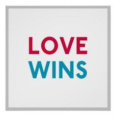Love Wins Square Momastery Poster
