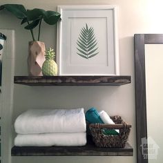 floating shelves, bathroom ideas, diy, how to, shelving ideas, woodworking projects