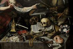 deathandmysticism:  Antonio de Pereda, Detail of The Knight's Dream, ca. 1655