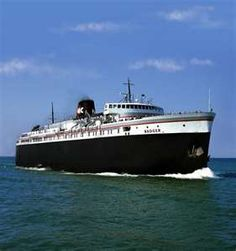 S.S. Badger car ferry...Ludinton, MI- you must take the Badger across Lake Michigan at least once in your life :)