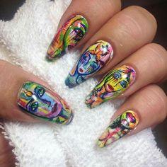 Carolina gynning nail art