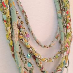 Woman's handmade fabric scarf necklace by ATLIART on Etsy, $150.00