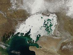 Ice in the northern Caspian Sea