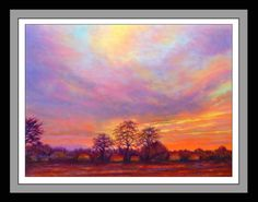 Sunrise - Le Dorat, France - pastel - 50 x 40 cm by Richard Edwards