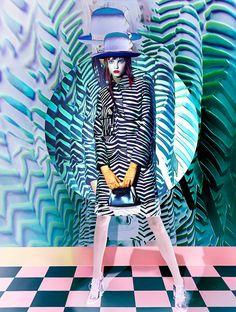 Pop Art Fashion, Vogue Fashion, Stripes Fashion, Molly Bair, Celine, Editorial Photography, Fashion Photography, Photography Poses, Photocollage