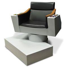The Authentic James T. Kirk Captain's Chair - Hammacher Schlemmer