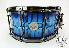 "268 Likes, 16 Comments - HHG_DRUMS (@hhg_drums) on Instagram: ""14x7 contoured ash stave snare drum with electric blue high gloss lacquer. This one's headed across…"""