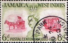 Jamaica 1960 Stamp Centenary SG 178 Fine Used Scott 177 Other West Indies and British Commonwealth Stamps HERE!