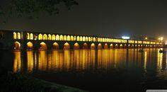 The Bridge of 33 Arches At Isfahan and Iran
