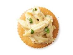 Deviled Crab Dip (No. 15) : Mix 1/2 pound crabmeat, 3 tablespoons mayonnaise, 1 tablespoon each Dijon mustard, lemon juice and chopped parsley, 1/4 teaspoon Worcestershire sauce, and salt and hot sauce to taste. Serve with crackers.