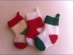 Chaussettes de noël crochet. Christmas boots crochet easy, My Crafts and DIY Projects
