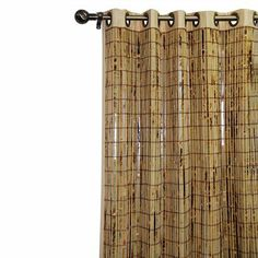 """Bamboo Grommet Door Panel - (54x84"""") - for sliding doors. Would bring in nice texture/contrast and could still do dummy curtain panels on sides? $84 each"""