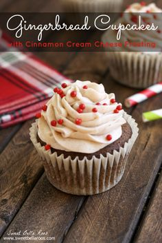 Gingerbread Cupcakes with Cinnamon Cream Cheese Frosting by Grace & Good Eats