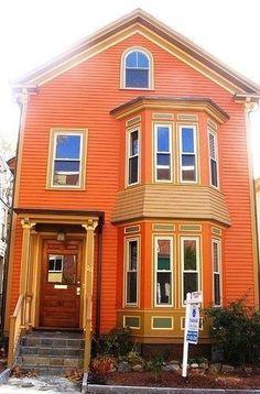 casa orange casas painting esterne exterior exteriores pintura pareti coloridas colores naranja maison pumpkin arancione paint madera mag exterieur ola