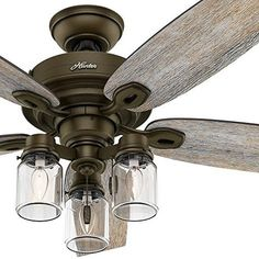 52 edison rustic ceiling fan w industrial cage light pinterest this fan brings together a variety of styles such as farmhouse rustic and industrial in a unique arrangement that fits with a wide range of dcor aloadofball Choice Image