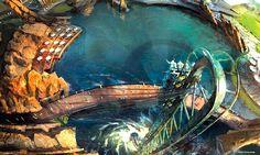 Marvel Dubailand Theme Park Concept Art by Chimera Design