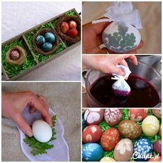 Super pomysł na farbowanie jajek