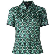Burberry geometric print buttoned blouse
