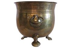 - Hammered Brass Planter