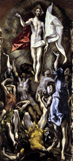 GRECO, El / The Resurrection  1596-1600 / Oil on canvas, 275 x 127 cm  Museo del Prado, Madrid