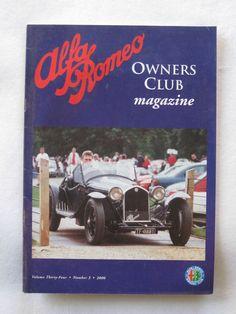 Alfa Romeo Owners Club Magazine Vol 34 Number 3 2000