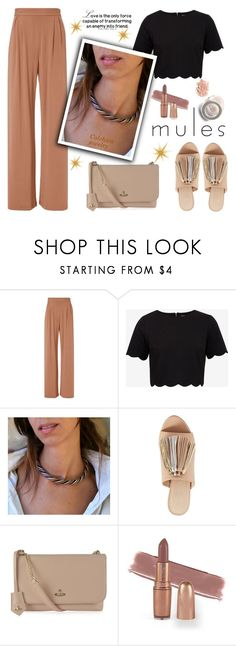 """Slip 'Em On: Mules"" by samra-bv ❤ liked on Polyvore featuring Fleur du Mal, Ted Baker, Loeffler Randall, Vivienne Westwood, mules, polyvorefashion, Spring2017 and colchicojewelry"